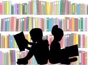 46244344 - children reading the book.